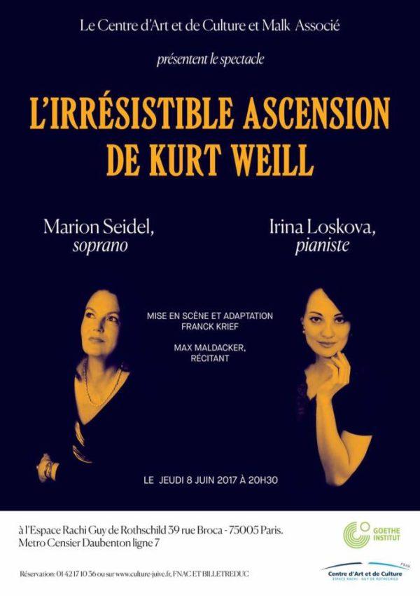 Kurt Weill Recital Paris - Juni 2017